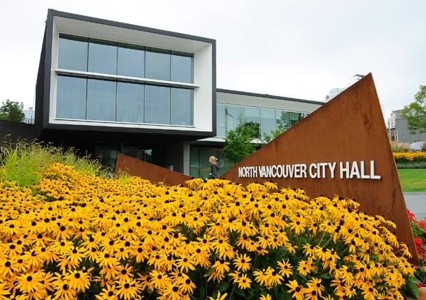 NV City Hall Sign Flowers Building CG