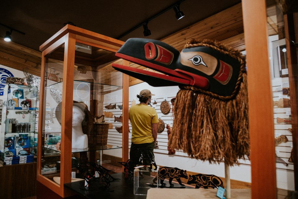 Indigenous Tourism BC has just announced a new three-year strategy geared toward helping businesses survive the pandemic, as well as an additional $5 million in funding for extra grants this year. Pictured is the I-Hos Gallery.