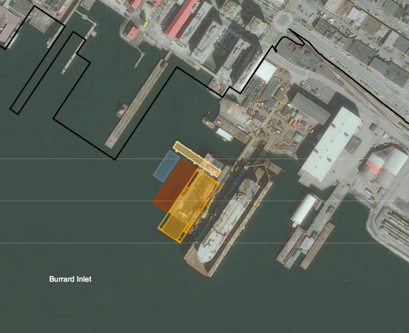Vancouver Drydock expansion map