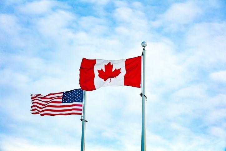 Canada-U.S. flags
