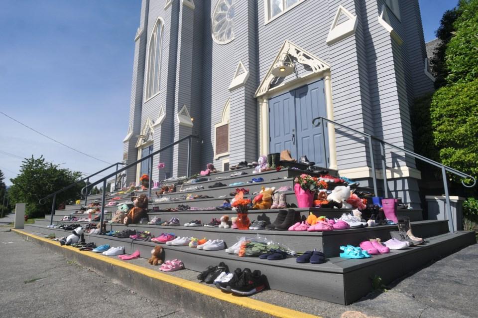 Shoes at St Pau's Church 2