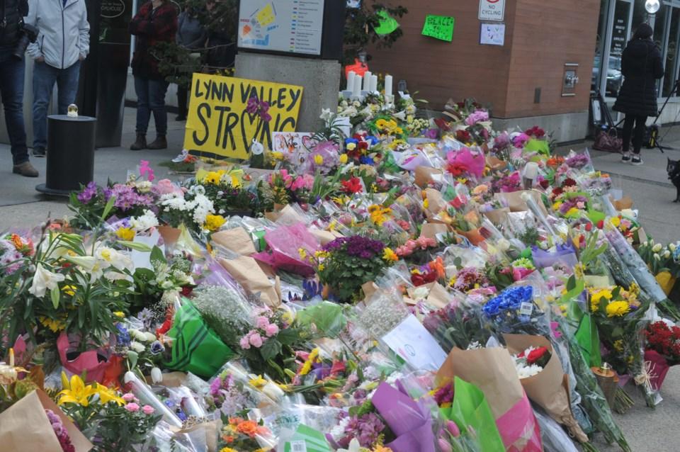Lynn Valley attacks flower memorial