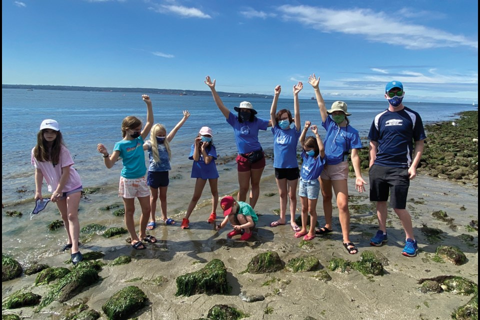 Participants get their feet wet at an Ocean Ambassadors Canada camp. The North Shore organization is offering a leadership camp for girls aged 13-15 this summer.