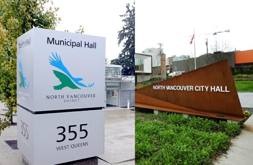 Two North Van municipal halls