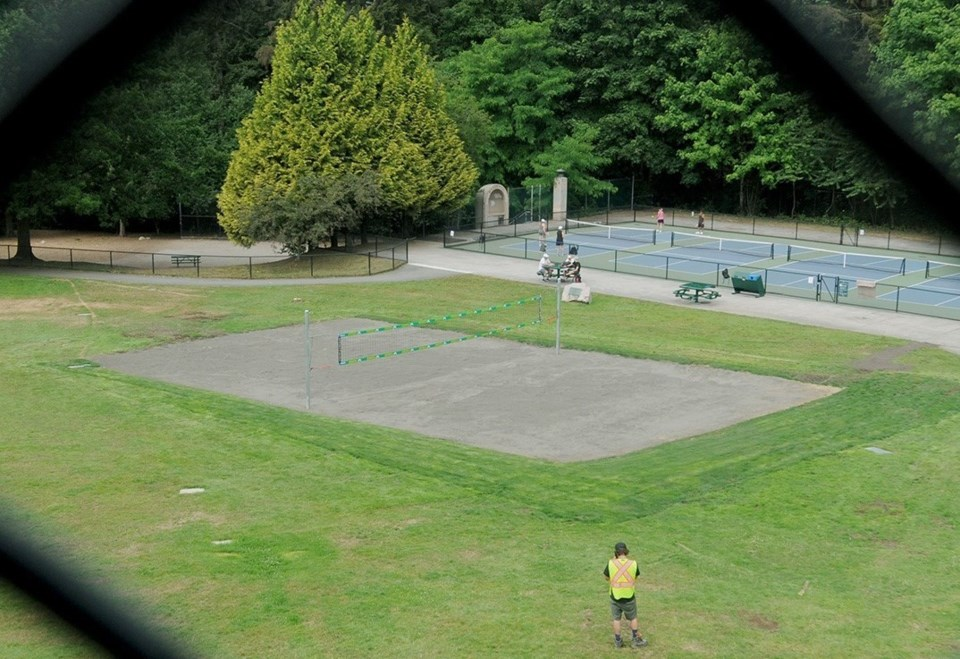 Volleyball court at Mahon Park