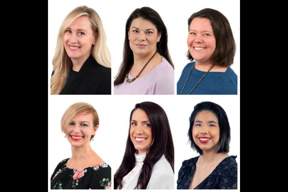 In North Vancouver, the Women of Distinction Awards nominees are, from top-left clockwise: Michele Matthews, Patrice Mousseau, Melina Scholefield, Reeva Billy, Denise William, and Karen Kobel.