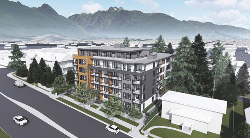 A design rendering shows a proposed development for 2762 Lonsdale Ave. in North Vancouver.