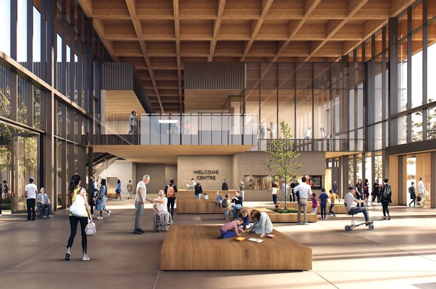 An architect's rendering shows how North Vancouver's new Harry Jerome Community Recreation Centre should look when it opens in 2025.