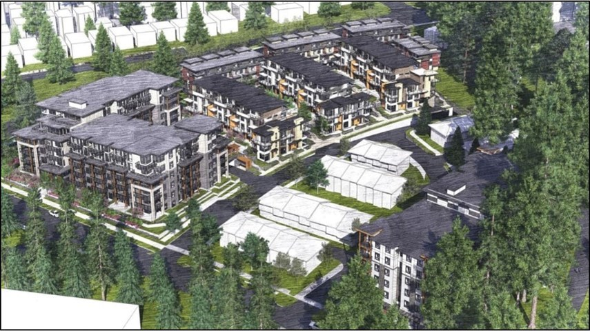 A rendering of what the Seymour Estates development will look look.