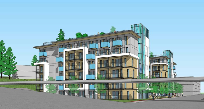 Park Royal's proposed 199-micro-unit apartment building is planned for the corner of Taylor Way and Clyde Avenue in West Vancouver. About 90 per cent of the rental homes would be just 350-square feet.