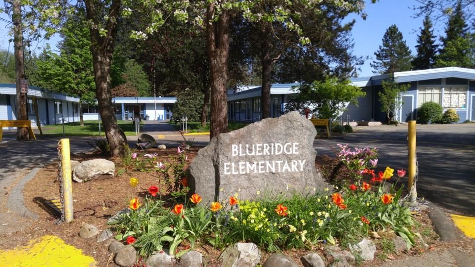 Blueridge elementary sign