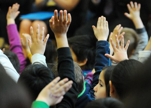 Kids Raising HandsNO(visibleface)