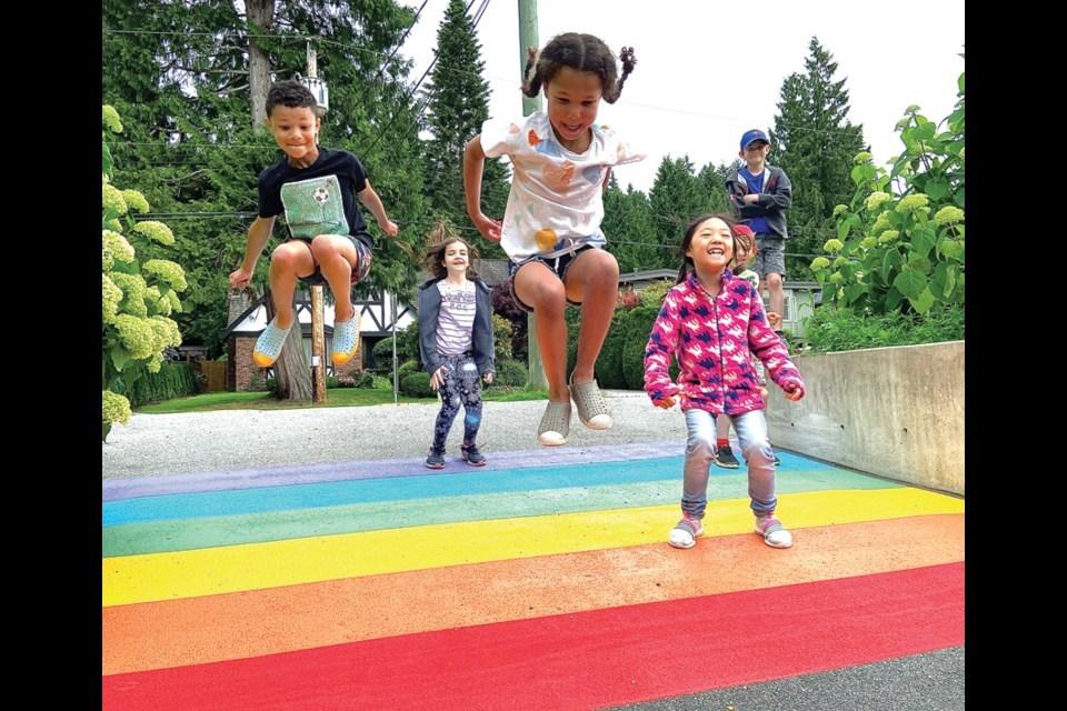 rainbow crosswalk cleveland