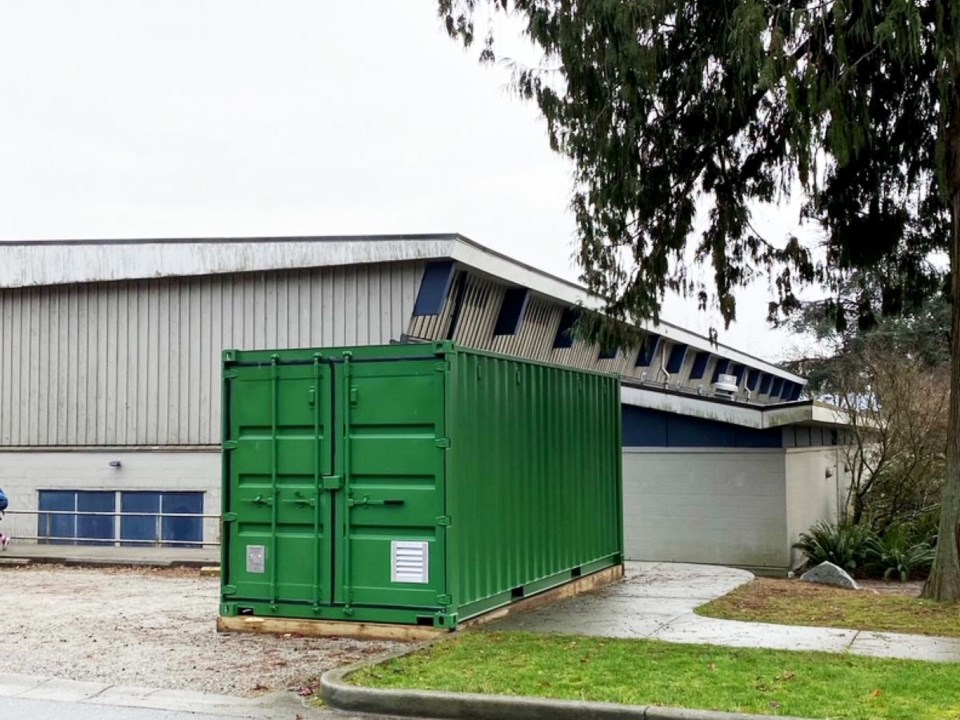 West Vancouver emergency container