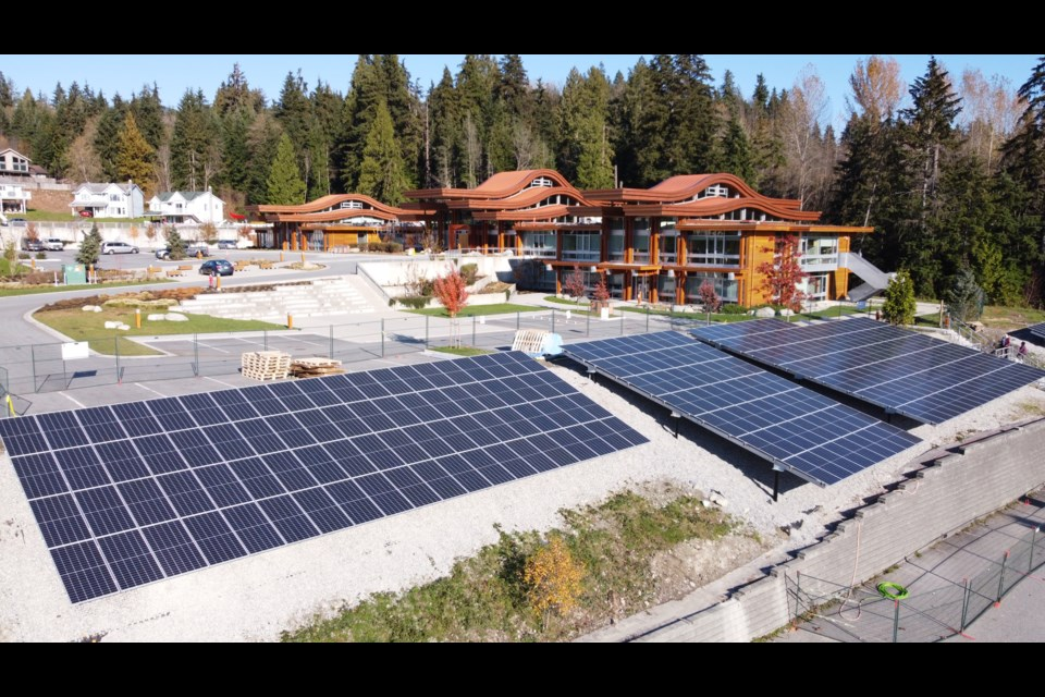 Tsleil-Waututh Nation's massive solar power project is now ready to start harnessing the power of the sun.  Photo via Tsleil-Waututh Nation