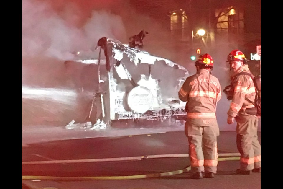 A GoFundMe has reached than $13,000 in one day to help an 83-year-old man left homeless after his motorhome caught fire in West Vancouver.