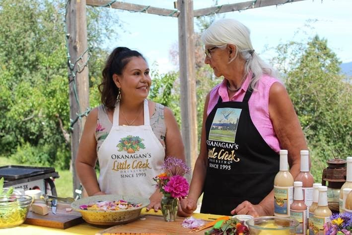 Show host Tracey Kim Bonneau visits with Donna Denison, creator of Little Creek Dressing, in an episode of Quest OutWest Wild Food.