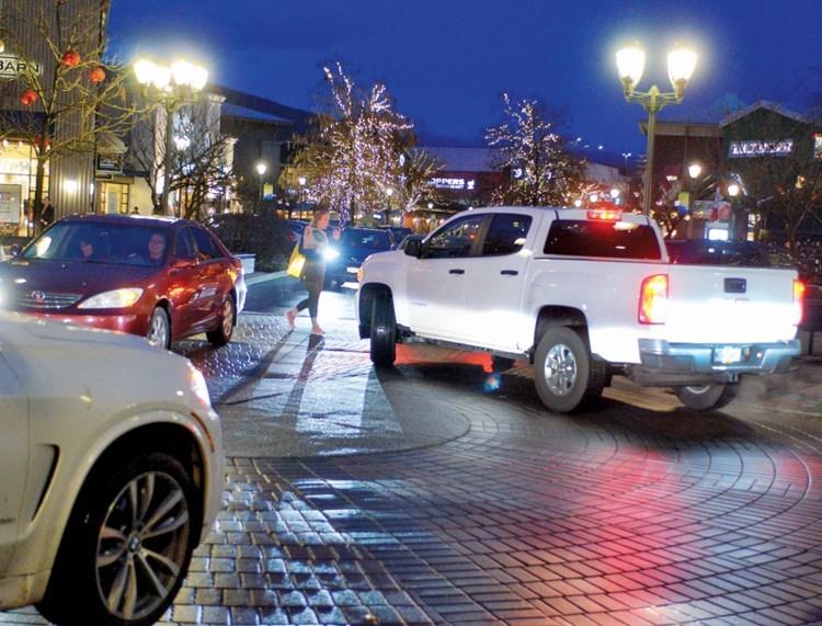 Christmas parking lot mayhem