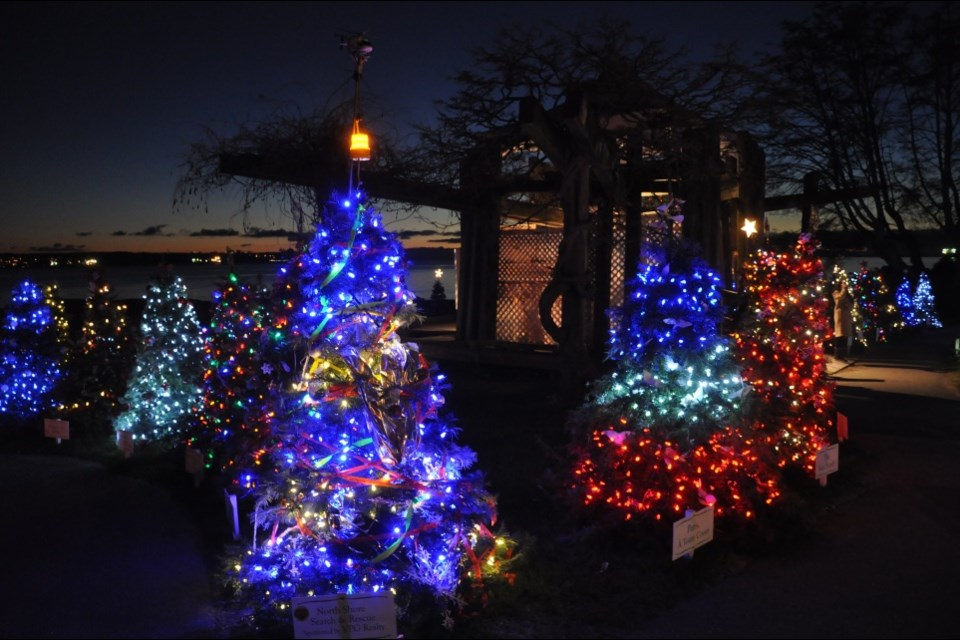 Stunning decorated trees at a previous Forest of Miracles festival. photo Dundarave Festival's Forest of Miracles