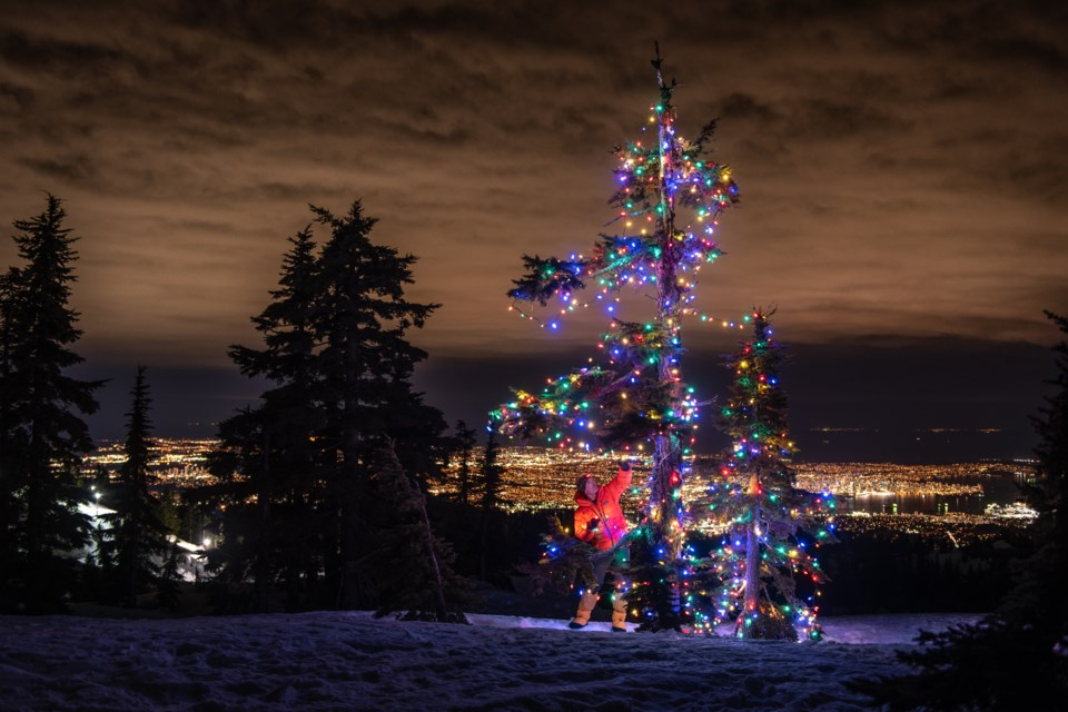 Jason Brawn decorated another tree on Mount Seymour with holiday lights on Jan. 14 and says he's going to keep doing it to spread joy throughout the year.
