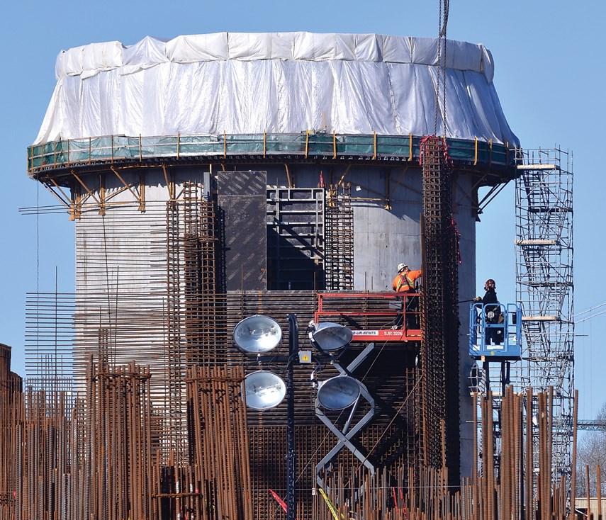 North Shore sewage plant construction 01