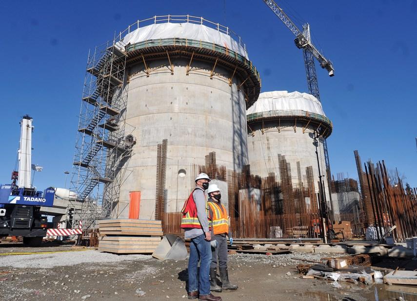 North Shore sewage plant construction 05