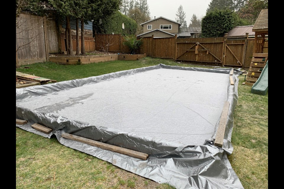Lynn Valley resident Jason English has prepped a backyard rink for his kids just in time for B.C.'s cold snap.