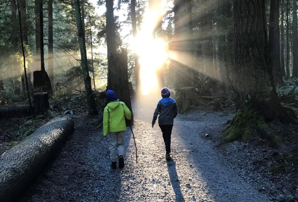 Kids on hike