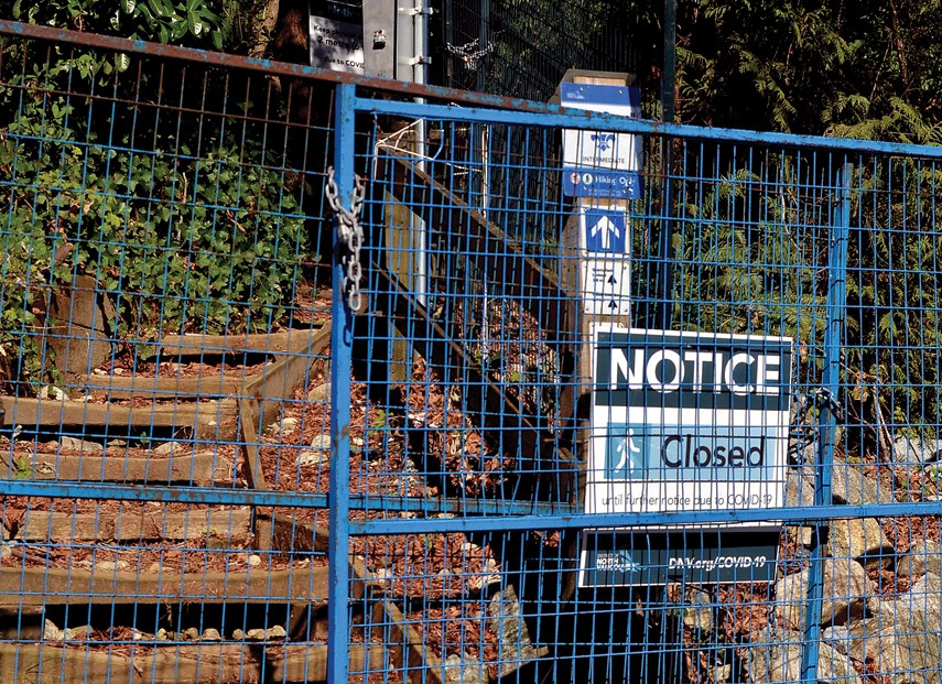 Quarry Rock Trail Closed PM web