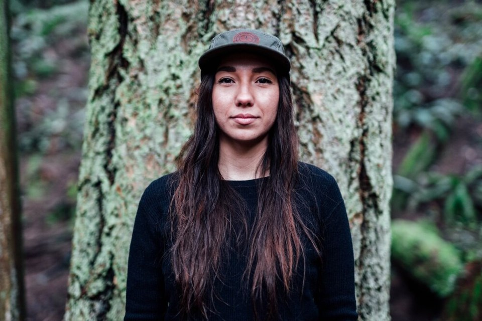 Squamish Nation woman Myia Antone, founder of Indigenous Women Outdoors, is the youngest ever winner of the VIMFF Tim Jones Community Achievement Award.