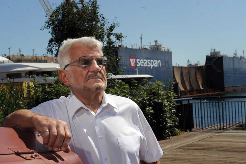 Lower Lonsdale resident Bish Siemiatkowski is one of the locals upset over Seaspan's plans to increase the size of their Lower Lonsdale Industrial site.