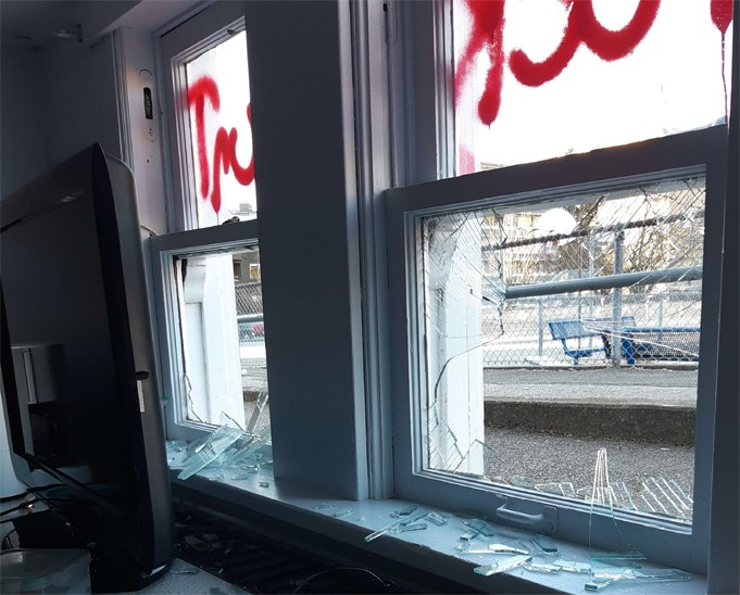Vandals smashed multiple classroom windows at Hollyburn Elementary school in West Vancouver overnight between Jan. 22 and 23. Police are looking for witnesses..