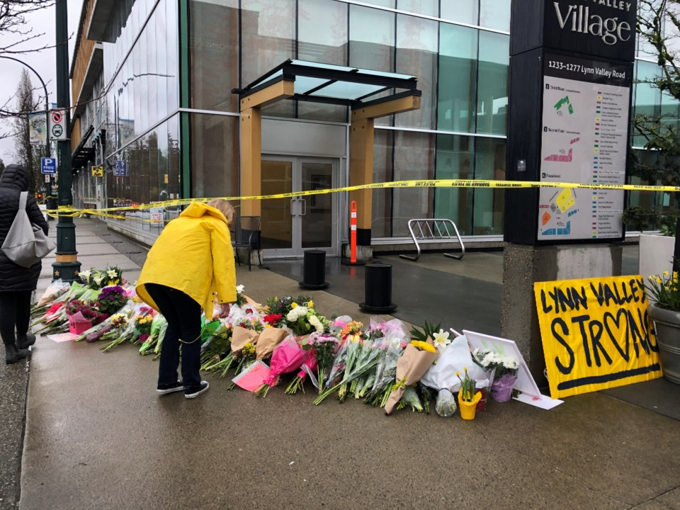 Lynn Valley stabbing tribute