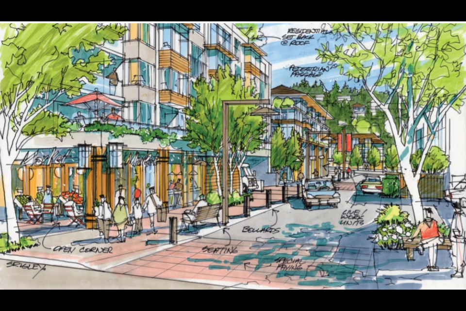 An artist's illustration of how Little Bay might look in the future according to the District of West Vancouver's draft local area plan for Horseshoe Bay.