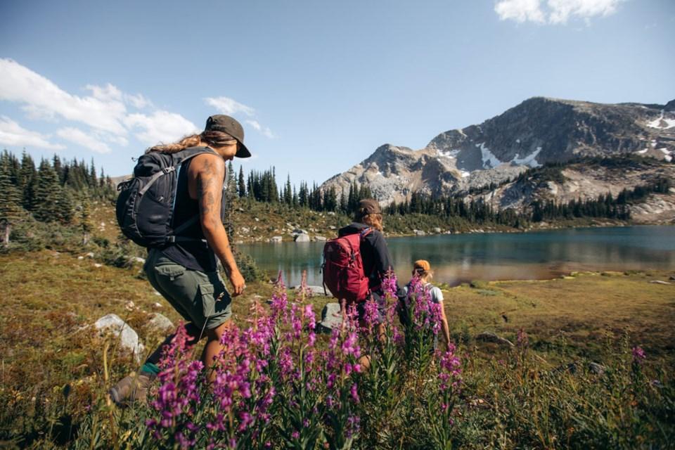 Hike among wildflowers, stunning peaks and alpine lakes.