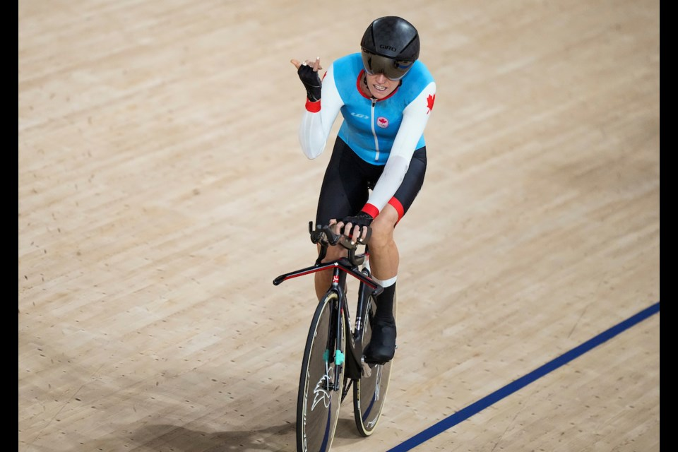 Georgia Simmerling hits the track for Olympic cycling. The West Vancouver athlete announced her retirement from competitive sports Sept. 14, 2021, following a truly unique Olympic career.