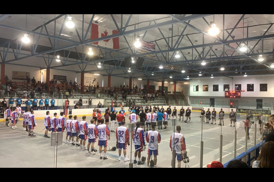 The North Shore Indians play their final game at Harry Jerome Community Recreation Centre arena, against Ladner Pioneers  on Aug. 10, 2021.
