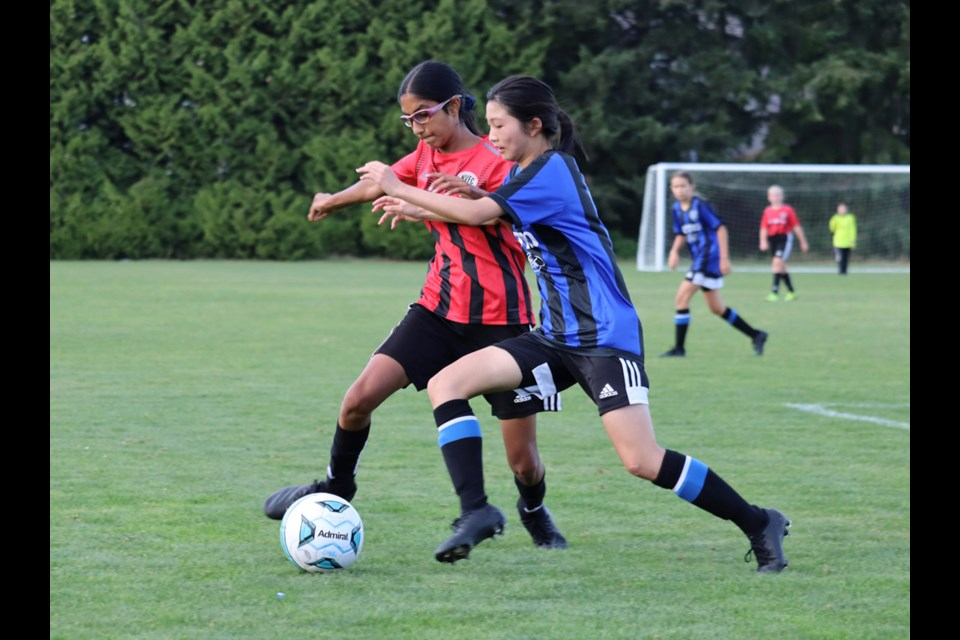 The NVFC U13 Intake girls team takes part in the SX Cup played in Surrey over the Labour Day long weekend.