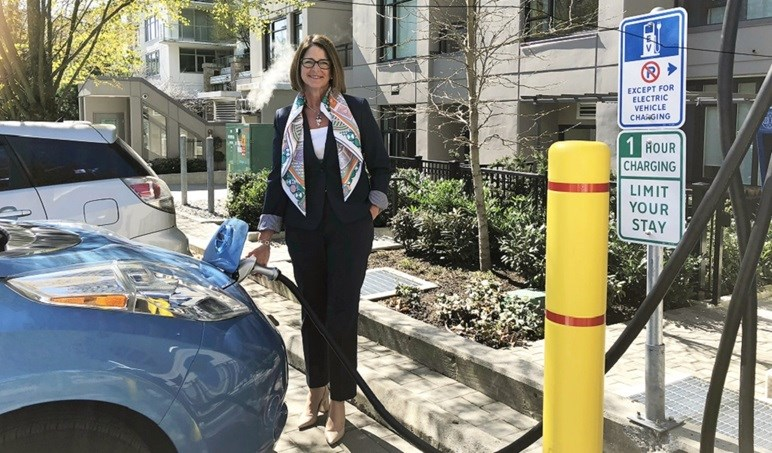 Mayor Buchanan and New EV Fast Charge Station