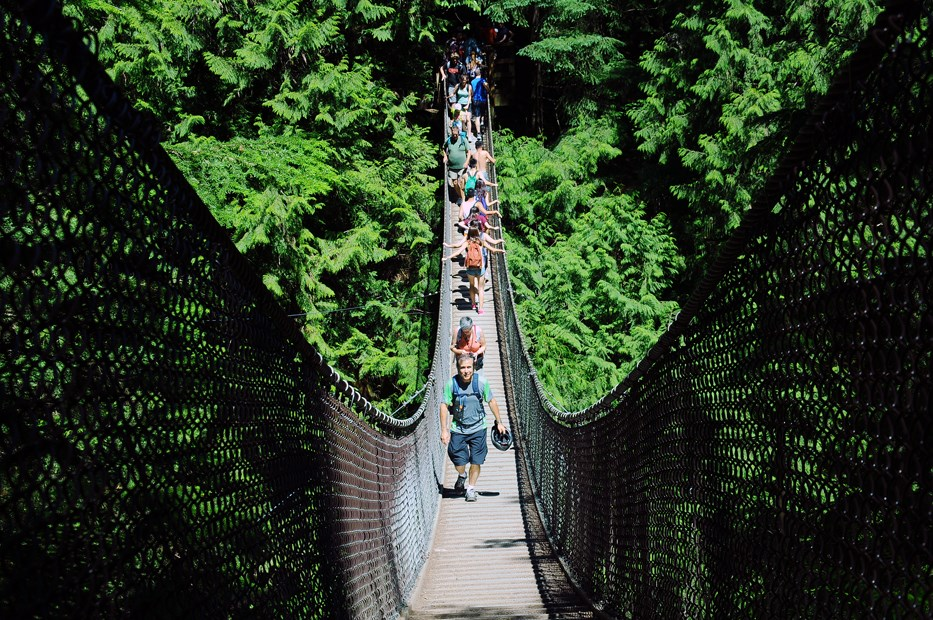 Lynn Canyon Suspension Bridge Walkers