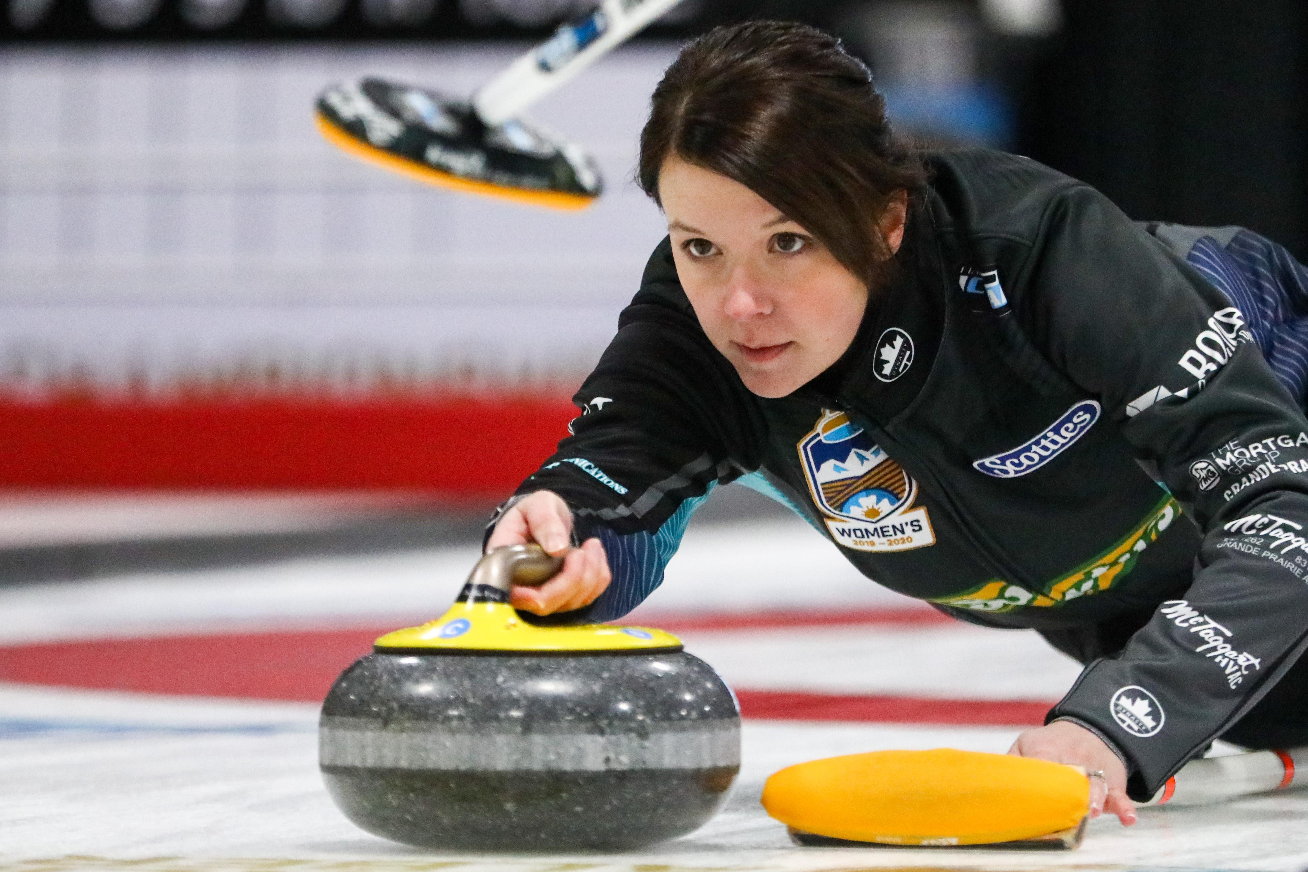 Hilker rink shocks Scheidegger in opening draw of Alberta Scotties