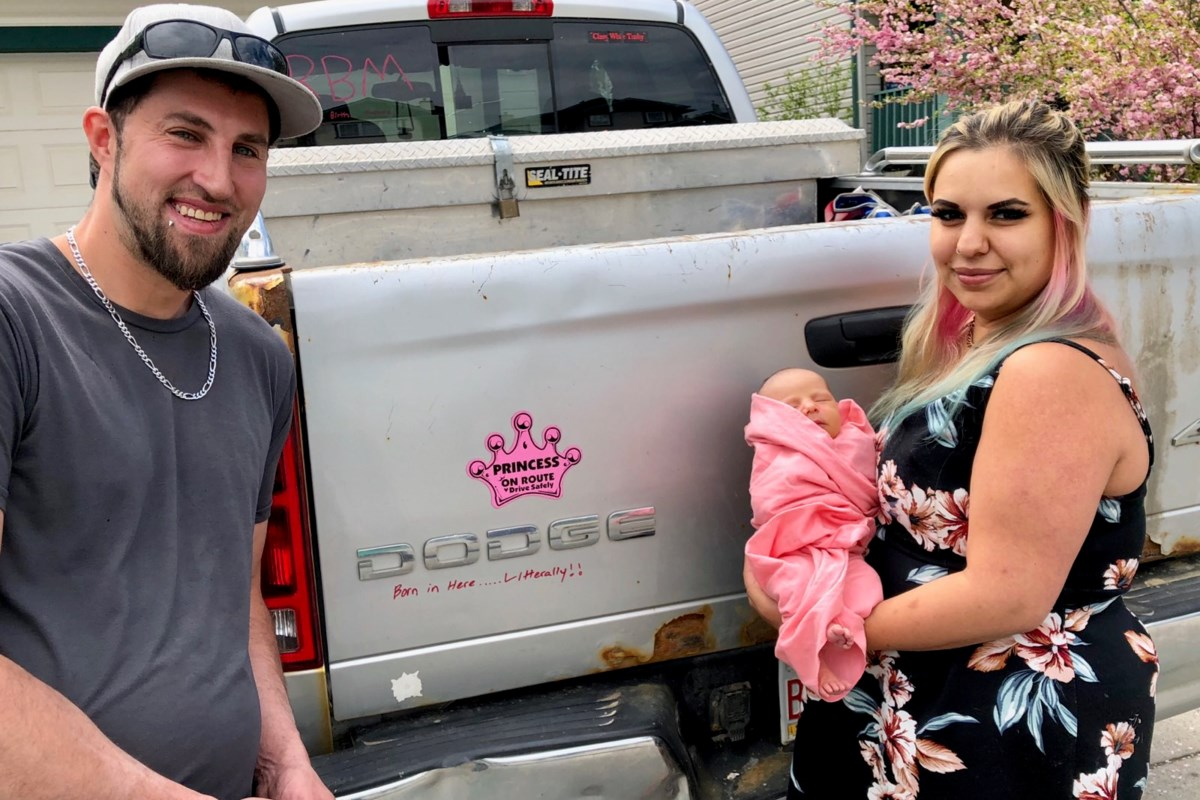 Okotoks mom, baby doing well after unexpected roadside delivery