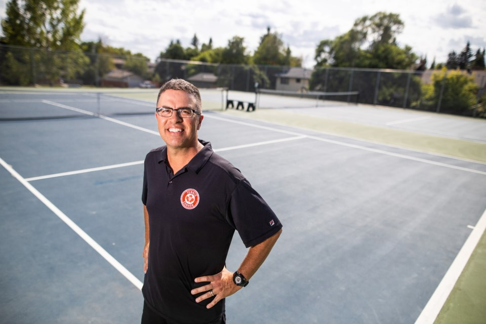 KJ Read set out on a new career path as a tennis official less than two years ago. (BRENT CALVER/Western Wheel)