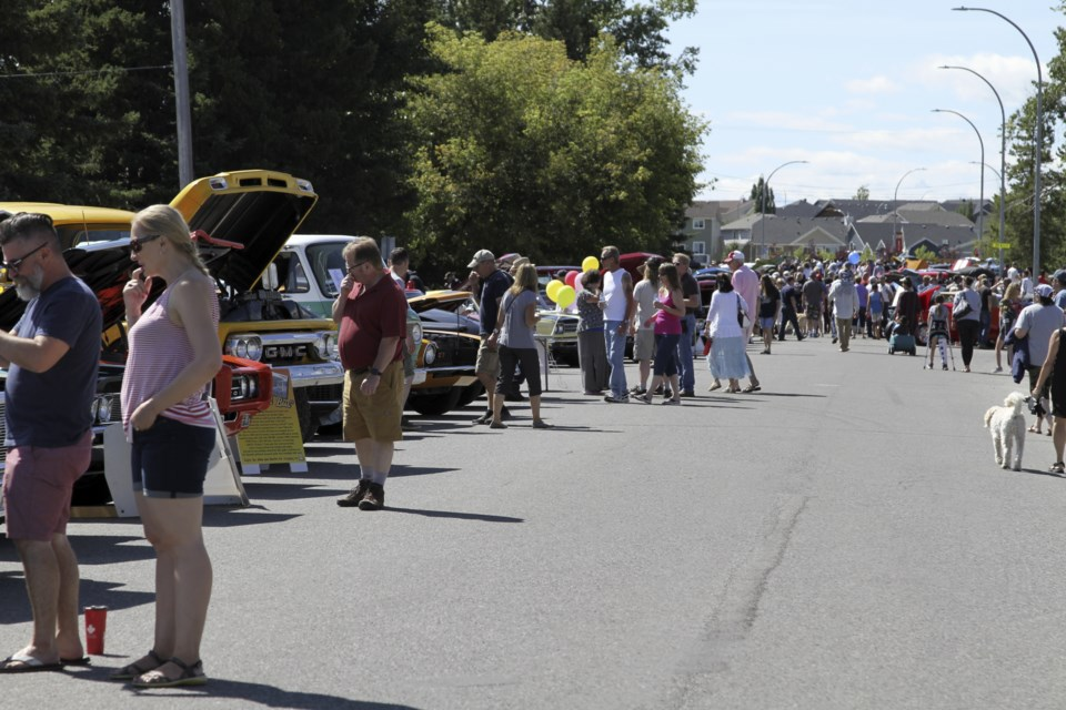 Car enthusiasts and interested spectators alike enjoyed the dozens of vehicles on display at the Black Diamond Car Show on July 28.