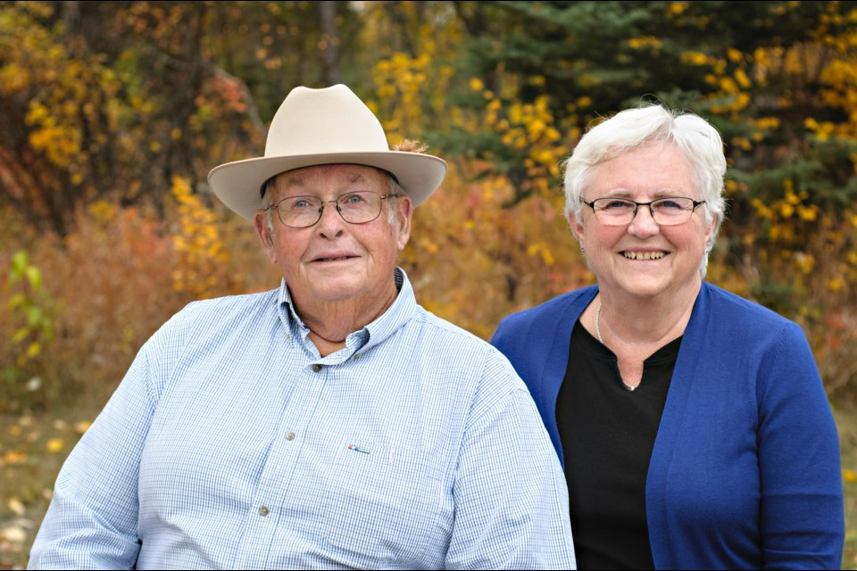Volunteers Allan and Joan Tosh will be honoured at the Millarville Races opening ceremonies at the Millarville Racetrack on Canada Day. (Photo Submitted)
