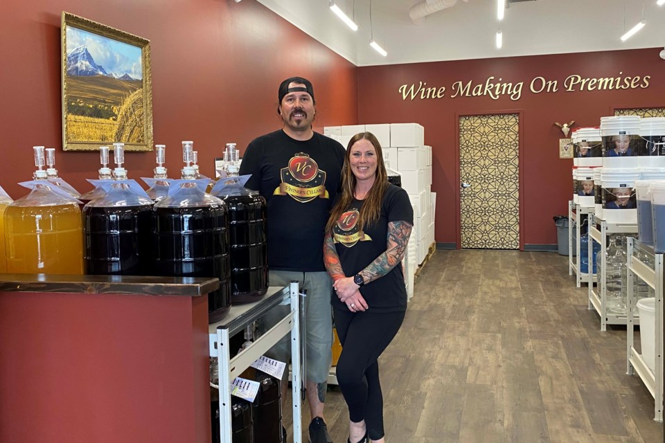Marc McFaull and Desiree Brook opened Vinter's Cellar in Okotoksin March 2020. (Supplied photo)