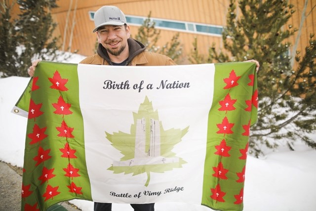 Black Diamond resident Warren Smith created a Birth of a Nation flag that will be featured in the ceremony in Turner Valley on April 9.