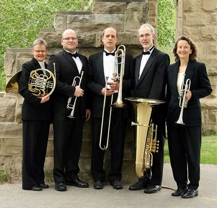 The Bow Valley Brass Ensemble comes to the Flare 'n' Derrick in Turner Valley 3 p.m. Jan. 16. From left are Laurie Matiation, Richard Scholz, David Reid, Michael