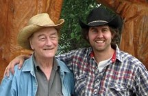 Tim Hus (right) is putting on a Stompin' Tom Connors (left) 75th birthday tribute show Friday, Feb. 4 at 8 p.m. at The Stop in Black Diamond. Hus has forged a