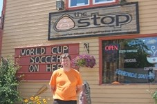 Mike Kingston, owner of The Stop Coffee House & Gathering Place, is not worried about the possibility of a Tim Horton' s opening in Black Diamond, but would like